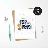 Top of the Pops Father's Day or Birthday Card for Dad