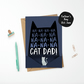 Batman Theme Cat Dad Father's Day Card Superhero Fan Gift from the Cat
