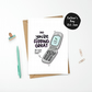 Personalised 90s Flip Phone Card Father's Day or Birthday Card for Him