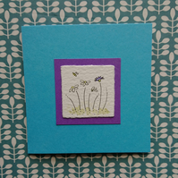 Greetings card - Wildflowers - Blank inside - Recycled