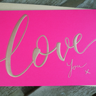 Valentine's Day - Love Greeting Card (Hot Pink)