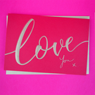 Valentine's Day - Love Greeting Card (Deep Red)