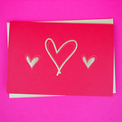 Valentine's Day - Heart Greeting Card (Deep Red)