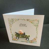 Happy Birthday Car Greeting Card