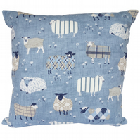 Square Cushion, Sheep Throw Pillow with inner pad