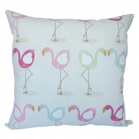 Square Cushion, Character Flamingo Throw Pillow with inner pad