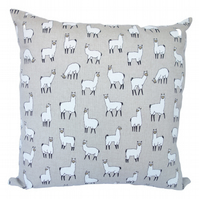 Square Cushion, Alpaca Throw Pillow with inner pad