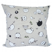 Square Cushion, Character Sheep Throw Pillow with inner pad