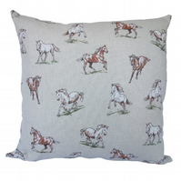 Cushion, Throw Pillow, Brown Horse design