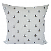 Bees Scatter Cushion, Throw Pillow with inner pad