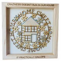 House, Box Frame Picture Wall Hanging