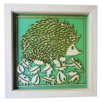 Hedgehog, Box Frame Picture Wall Hanging