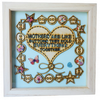 Mother, Box Frame Picture Wall Hanging