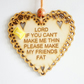 Message Wooden Hanging Heart - Make my friends fat
