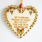 Message Wooden Hanging Heart - Husband