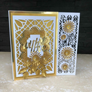Metallic Spray Handmade Personalised Card