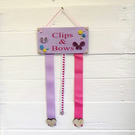 bow and hair clip holder, organiser