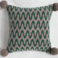 Knitted cushion - Knitted and felted lambswool wave design