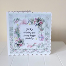 Botanical Bouquet Blossom Personalised Birthday Mothers Day Card
