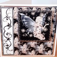 Beautiful Personalised Handmade Fairy Card with Free Gift Tag
