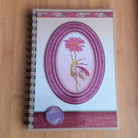 Hand Decorated Midnight Fairies A5 Lined Notebook. Daisy. Plus Free Gift