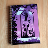 Hand Decorated Once Upon a Fairy Tale A5 Lined Notebook. Fairy Land