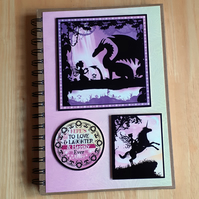 Hand Decorated Once Upon a Fairy Tale A5 Lined Notebook. Once Upon A Time