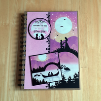 Hand Decorated Once Upon a Fairy Tale A5 Lined Notebook. True Love