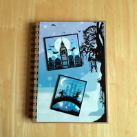 Hand Decorated Once Upon a Fairy Tale A5 Lined Notebook. Peter Pan