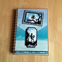 Hand Decorated Once Upon a Fairy Tale A5 Lined Notebook. Neverland. Peter Pan