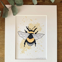 Abstract Bee Print