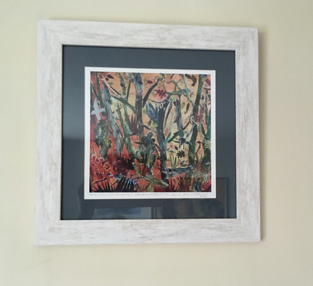 Where the Wild Things Are a limited edition fine art print in white wood frame
