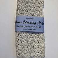Cotton Home Cleaning Cloth - White