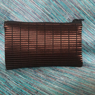 Unique women's cosmetic bag - Shiny brown