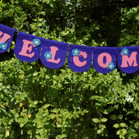 """""""WELCOME"""" BUNTING"""