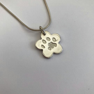 Pet Paw Print Charm Pendant - Personalised Jewellery