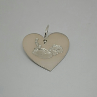 Ultrasound Baby Scan Picture Charm or Pendant - Fine Silver Keepsake Jewellery