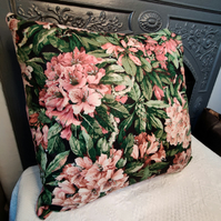 "16"",40.5cm cushion cover upcycled from vintage fabric with brand new inner."