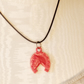 "Upcycled cowgirl necklace. Vintage plastic horseshoe on 18"" waxed cord"