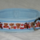 Fleece lined dog collar - Cute Puppies - Baby Blue
