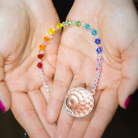 Swarovski 30mm crystal ball sun-catcher in rainbow colours super sparkly