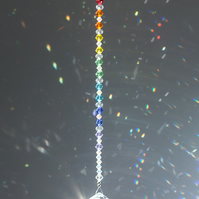 Swarovski 30mm crystal ball sun-catcher in rainbow colours
