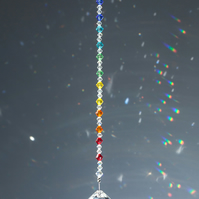 30mm crystal ball sun-catcher in chakra colours