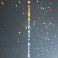 Swarovski 20mm crystal ball sun-catcher with rainbow colour bicones