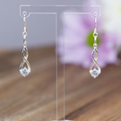 Sterling Silver and czech glass entwined earrings