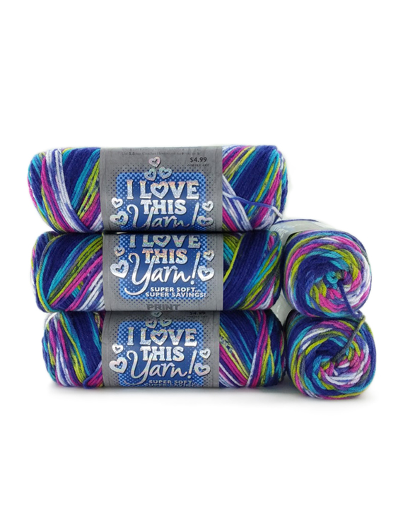 Pack of 5 I Love This Yarn Bulky Knitting Yarn