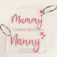 Personalised Name Keyring With Hearts