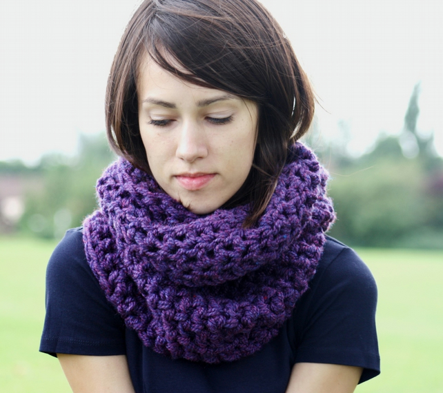 Circle Scarf Infinity Scarf Snood Heather