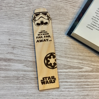Star Wars Stormtrooper Bookmark, Personalised Wooden Bookmark, A LONG TIME AGO..