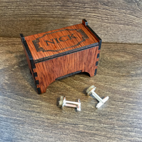 Cufflink Box, Personalised Wooden Cufflink Box, Men's Jewellery Box, Gift